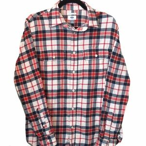 Old Navy Plaid Button Down Collared Shirt